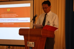 """Keynote Speech"" Kakanwil DJPBN Bengkulu pada Sosialisasi SAP 2011"